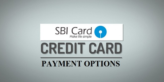 SBI Credit Card Bill Payment Options