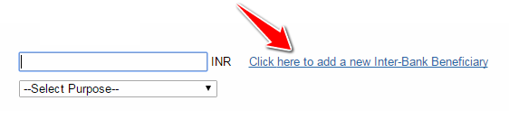 Adding a new Inter-Bank Beneficiary in SBI
