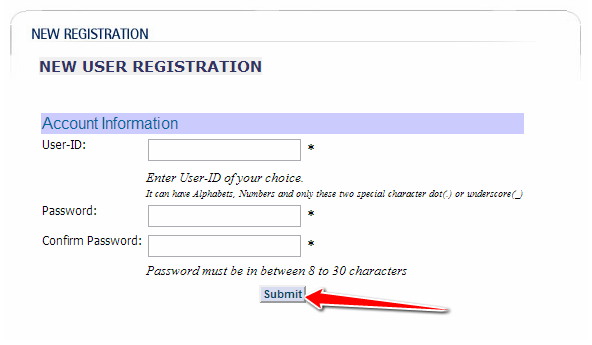 Create User ID & Password for LIC India Portal