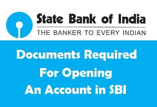 documents required for bank account in sbi