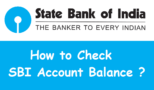 How to check SBI Account Balance