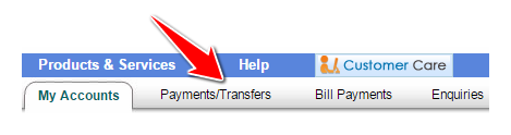 Payments-Transfers in SBI Online