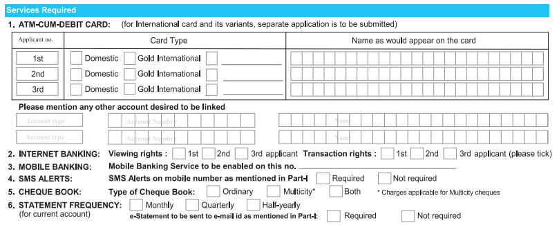 sbi saving account opening form pdf download