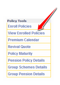 View Enrolled Policies