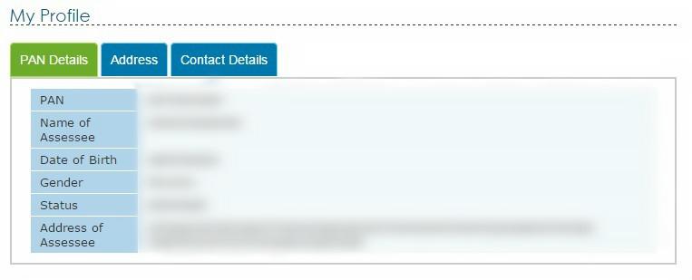 PAN Card Address Details