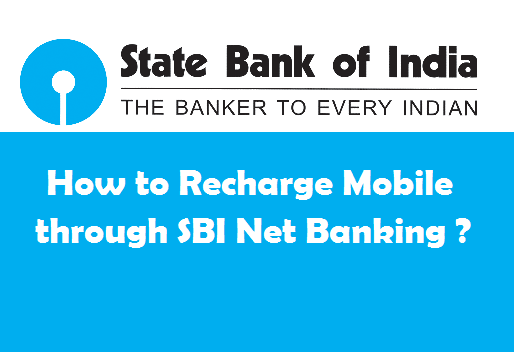 Recharge Mobile in SBI Online
