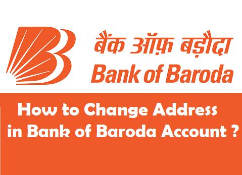 Change Address in Bank of Baroda Account
