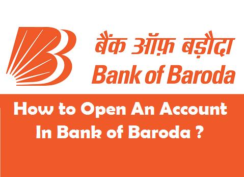 Open Bank Account in Bank of Baroda