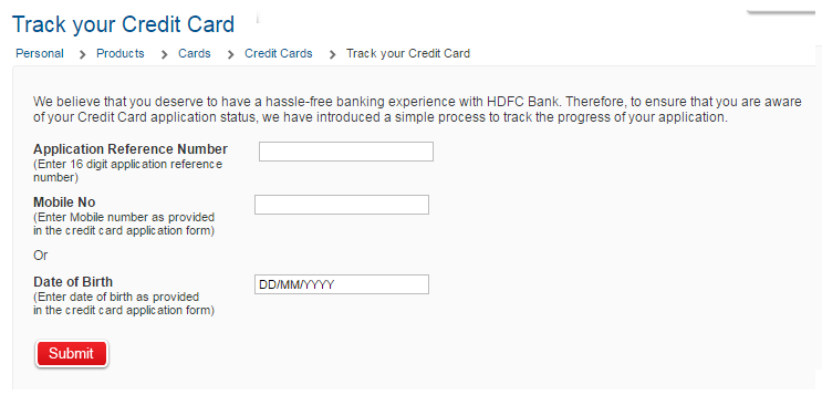 Check Your Application Status Credit Cards >> How To Check Hdfc Credit Card Application Status Online