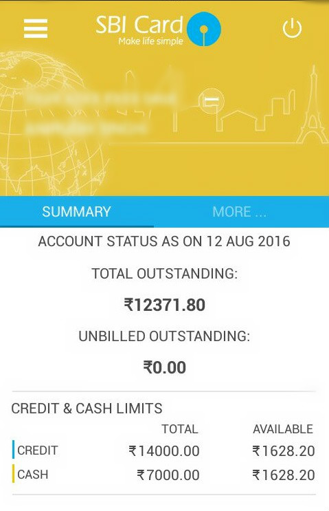 Check SBI Credit Card Balance & Outstanding