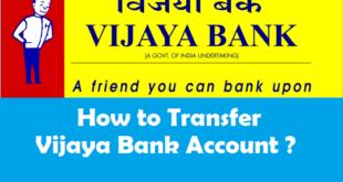 How to Transfer Vijaya Bank Account