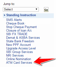 How to apply for a new atm pin in sbi onlineoffline atm card services in sbi online spiritdancerdesigns Choice Image