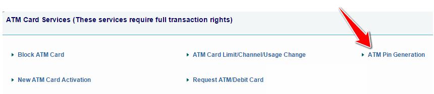 ATM PIN Generation in SBI