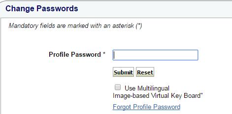 Enter Profile Password in SBI Online