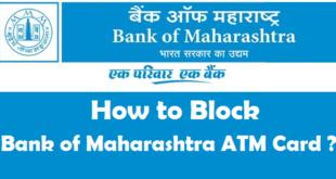 How to Block Bank of Maharashtra ATM Card