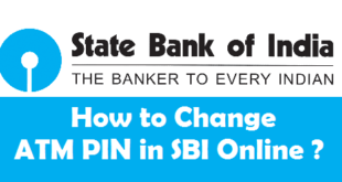 How to Change ATM PIN in SBI Online