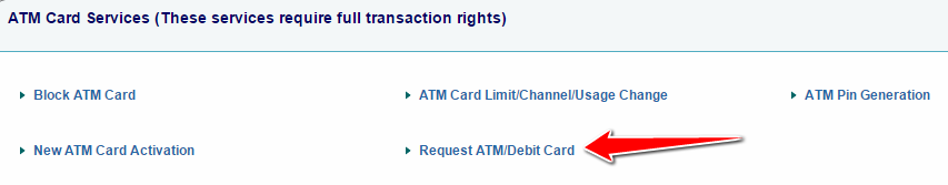 how to order new sbi atm catd