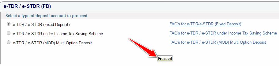 Fixed Deposit in SBI Online