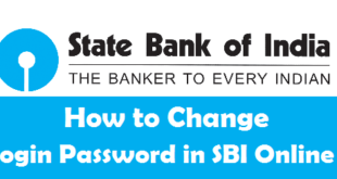 How to Change Login Password in SBI Online