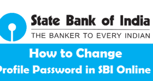 How to Change Profile Password in SBI Online