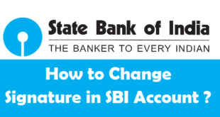 How to Change your Signature in SBI Account