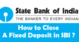 How to Close a Fixed Deposit in SBI