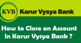 How to Close an Account in Karur Vysya Bank