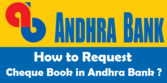 how to request cheque book in andhra bank onlinesmsphoneatm