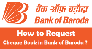 How to Request Cheque Book in Bank of Baroda