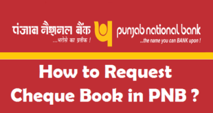 How to Request Cheque Book in PNB