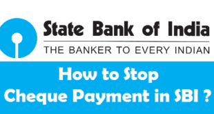 How to Stop Cheque Payment in SBI