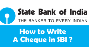 How to Write a Cheque in SBI