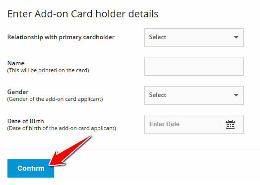 SBI Add On Card Holder Details