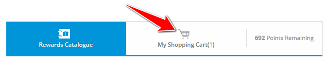 Shopping Cart to Redeem SBI Credit Card Reward Points