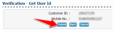 Verification to Get User ID