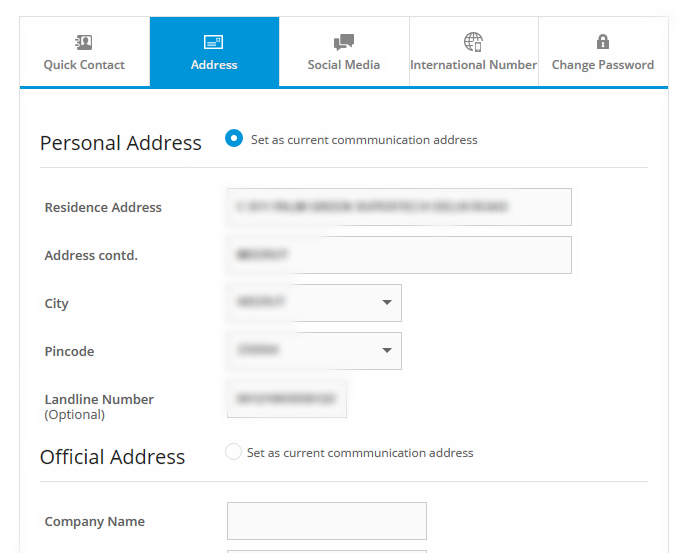 Change Communication Address in SBI Credit Card Online