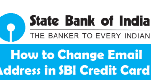 How to Change Email Address in SBI Credit Card