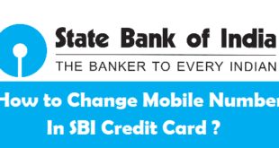 How to Change Mobile Number in SBI Credit Card