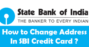 How to Change SBI Credit Card Address