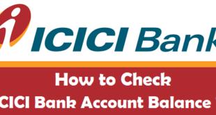 How to Check ICICI Bank Account Balance