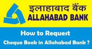 How to Request Cheque Book in Allahabad Bank