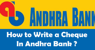 How to Request Cheque Book in Andhra Bank