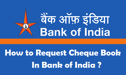 how to request cheque book in bank of india online phone atm