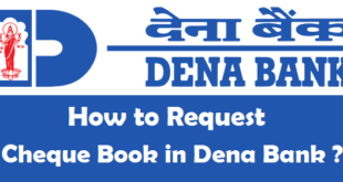 How to Request Cheque Book in Dena Bank