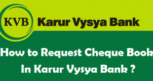 How to Request Cheque Book in Karur Vysya Bank