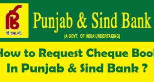 How to Request Cheque Book in Punjab & Sind Bank