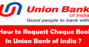 How to Request Cheque Book in Union Bank of India