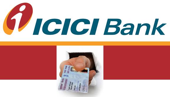 icici bank pan card form