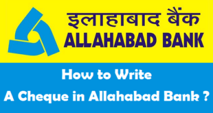 How to Write a Cheque in Allahabad bank