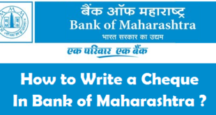 How to Write a Cheque in Bank of Maharashtra